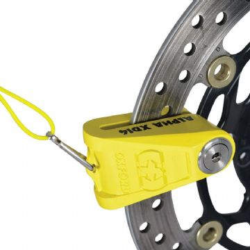 Oxford Alpha XD14 Motorcycle Motorbike Strong Disc Lock 14mm pin Yellow